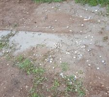 Le conducteur de la toupie a nettoyé son matériel sur le terrain... moyen