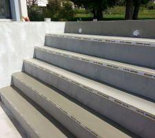 Ragréage de l'escalier