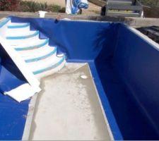 Liner en PVC armé 150/100mm de couleur uni Bleu marine