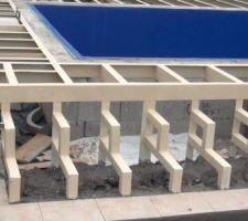Escalier de la charpente en tôle galvanisé pour la terrasse