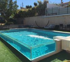 Voila j'ai fini ma piscine sans professionnelle.