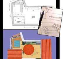 Croquis d'esquisse et étude de mise en plan avant 3D