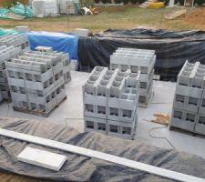 Livraison des bloc a bancher de 25cm de large