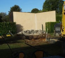 Dalle béton casser début du terrassement
