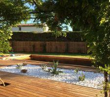 Terrasse posée et jardin