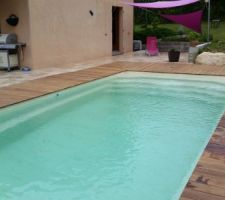Terrasse piscine  en ipé