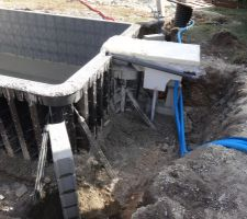 Cablage électrique et pré installation pour éventuelle pompe a chaleur