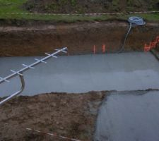 Coulage du radier beton