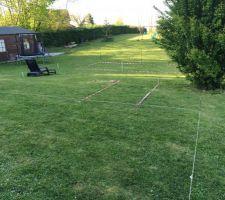 Implantation de la terrasse et du solarium et de la piscine