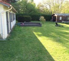 Implantation de la terrasse