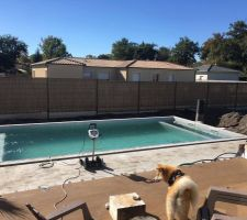 Piscine ma onn e 8x4 dans le 33 les photos de la for Cout piscine coque 8x4