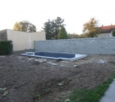 Pose margelle et élévation du murs clôture