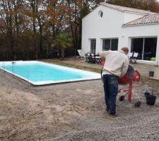Preparation de la ceinture beton