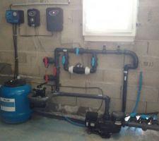 Pompe hayward 0.75cv, filtre, coffret élec, pompe doseuse, électroliseur