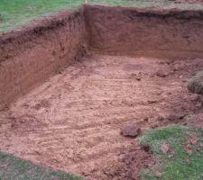 Début du chantier : le terrassement
