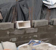 Montée des murs: 3ème ceinture et skimmer