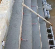 Escalier coulé 1m3 de béton.