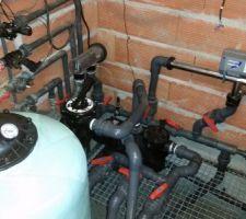 Filtre    14M3  chauffage électrique 3 KW stérilisation au chlore, la cellule visible ne fonctionne plus, (beaucoup de pb)
