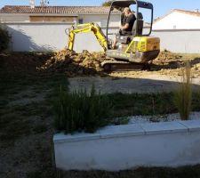 Début du chantier - terrassement