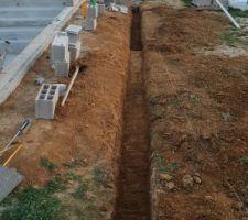 Fondation muret retenu de terre