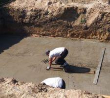 Lissage rapide de la dalle en béton