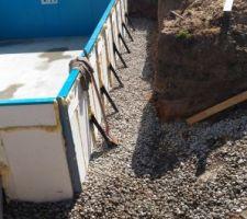 Mise en place du drainage (tuyau drainage + galets)