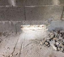 On passe à la filtration. elle sera dans mon abris bois maconné et attenant à la maison (plus facile pour l'électricité, raccords, insonorisation...) je perce le mur facilement au marteau perforateur