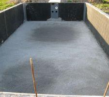 Remplissage du beton