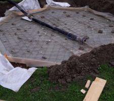 C'est partie pour le coulage ... beton hydrofuge
