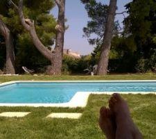 Voilà, petite photo de la piscine mise en eau cet été en pleine canicule.