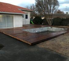 Terrasse bois posée