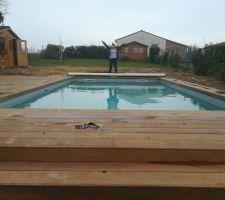 Terrasse presque terminée