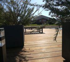 Photos terrasse presque terminée .....