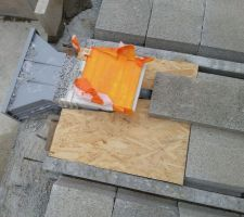 Coffrage plancher côté skimmer