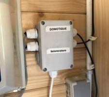 Domotique temperature Intérieur local  Extérieur  Piscine Sortie PAC