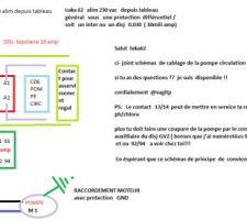 SCHEMAS ELECTRIQUE CDE POMPE CIRCULATION PISCINE..