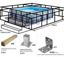 Création d'une terrasse pour piscine hors sol