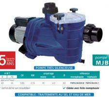 Pompe 43m3/h pour montage système nage à contre courant