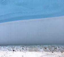 Rayure sur piscine suite à la pose 2