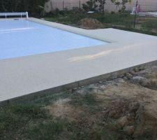 Terrasse en moquette de marbre.