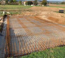 Pose des attentes de fondation pour monter les banchers de 27. Attente fondation double en tor de 10