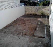 Terrassement de la piscine 1