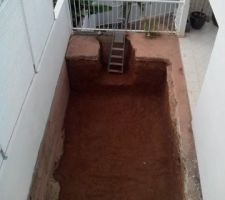 Terrassement de la piscine 4