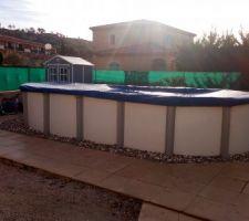 Disposition de la piscine Hors Sol avant la réalisation du Projet