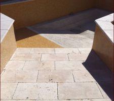 1er septembre : plage en marbre de travertin