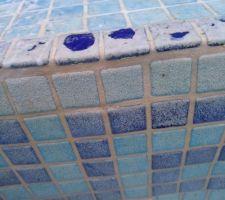 Une fois le bassin vidé et nettoyé, le tartre est visible, et les résultats sont formels : il faut passer aux grands moyens !
