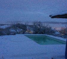 Arret remplissage  chantier   neige  et froid  !