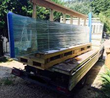 Livraison de la paroi de verre 410x70x5