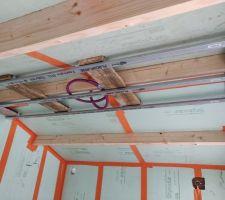 Fourrures pour retour plat de toit (pose dalle led au plafond)