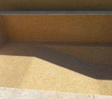 3 septembre : piscine finie, les joints sont faits